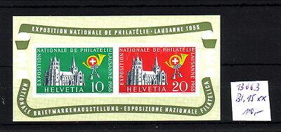 Schweiz  **     Bl. 15  Michel   110,-   K13663