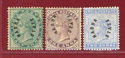 India States, Nabha 1885 #1-3, Hinged, OG, SCV $126.25 for sale  Shipping to India