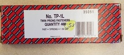 """Smead® Twin Prong Fasteners, 1"""" and 5/8"""" Capacity, Brown, 53/Box **HALF BOX**"""
