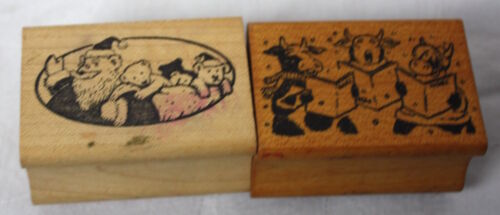 All Night Media Christmas Holiday Mounted Rubber Stamps Santa Toys Cows