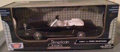 1/18 Scale 1964 1/2 Black Ford Mustang Convertible American Classics MotorMax