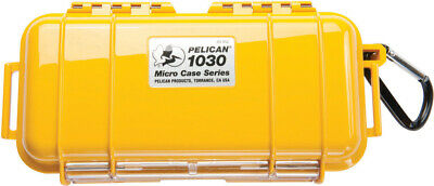 Pelican 1030 Solid Yellow Micro Case with Free engraved nameplate 1030 Waterproof Case