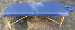 CUSTOM MADE - PORTABLE - WOOD - MASSAGE TABLE - WITH ACCESSORIES