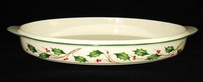 Lenox Holiday Bakeware - Lenox China, HOLIDAY Dimension, Freezer to Oven to Table, Oval Bakeware, 16