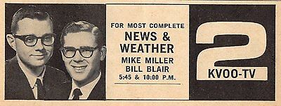 1964 Kvoo Tv Ad Mike Miller Bill Blair Tulsa Oklahoma News   Weather Channel 2