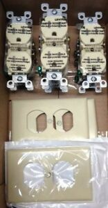 Leviton electrical receptacles and faceplates
