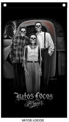 David Gonzales Art Chicano Lowrider cholo Vato Locos Forever High Quality Banner