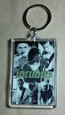AS-IS INCUBUS B&W GREY GREEN GROUP BAND PHOTOS KEY CHAIN KEYCHAIN