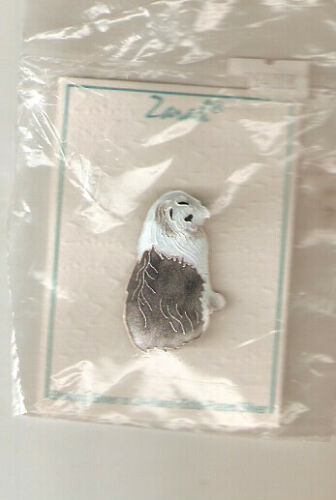 Zarah Enamel Sterling Silver Brooch Pin Jewelry Bearded Collie Beardie LAST ONE!