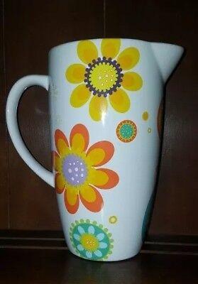 Flower Power Pop Art RETRO Pitcher Vase Robin Pickens 10