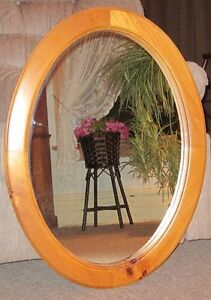 Pine Oval Mirror