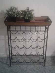 Large Cast Iron Wine Rack/Shelf