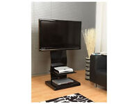 Beautiful elegant Iconic curved black cantilever stand for TVs up to 52 inch