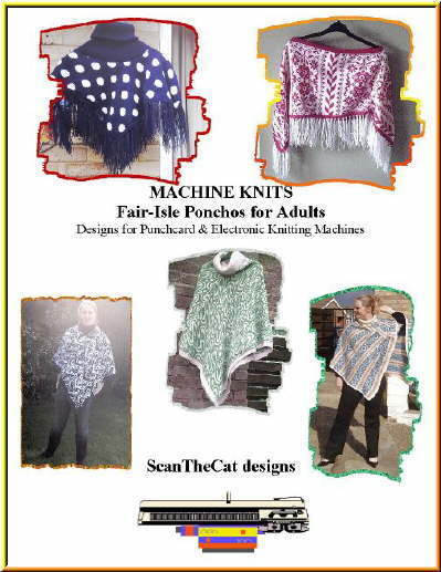 Easy Knit Poncho Shrug Ruana Afghan Knitting Machine Patterns On