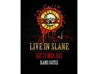 2 x Guns and Roses gold circle tickets with camping passes