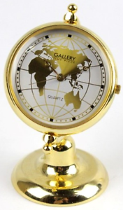 Gallery Time Piece Quartz Brass Globe Clock Morley Bayswater Area Preview