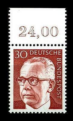 BUND Heinemann  30 Pf. **, Mi. 638 - Oberrandmarke