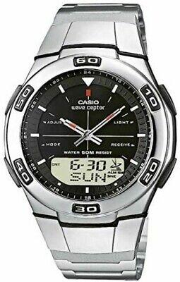 Rare Casio Wave Ceptor Men's Watch WVA-105H Quartz Stainless Steel Strap NEW
