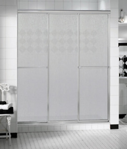 "MAAX Shower Doors - 44 1/2"" tempered glass, 3 panel shower door"