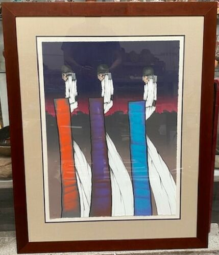 "Armado Pena framed lithograph  34"" x 25"" rag paper Edition 24/35; Signed"