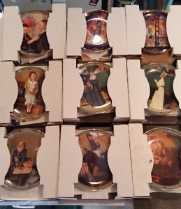 NORMAN ROCKWELL BRADFORD COLLECTOR PLATES SET 10