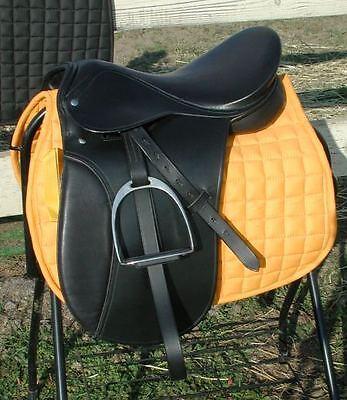 "Draft horse 17"" Dressage saddle, bridle, bit,pad, girth"
