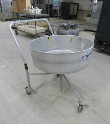 Mettler Toledo Revolving Floor Display Merchandising Bin Cart Rotating Carousel