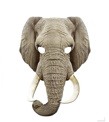 Elephant Animal 2D Card Party Face Mask Fancy Dress Up Zoo Safari Theme - Safari Theme Dress Up