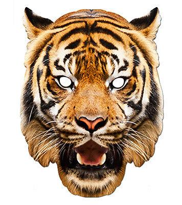 Tiger Tier 2D Karten Party Gesichtsmaske Kostüm Zoo Thema (Tiger Gesicht Kostüm)