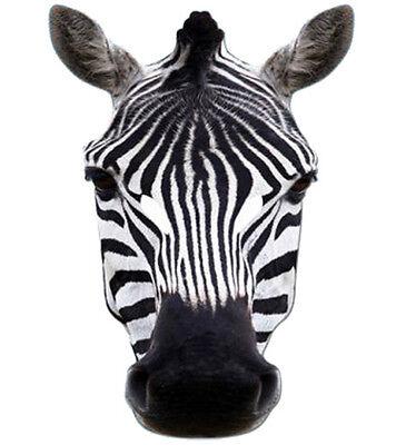 Zebra Animal 2D Card Party Face Mask Fancy Dress Up Zoo Safari Theme - Safari Theme Dress Up