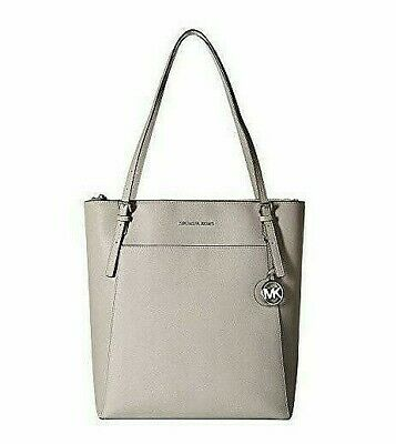 Michael Kors Voyager Large NS Work Office Travel Shoulder Tote Bag Pearl Grey
