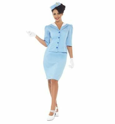 NEW Air Hostess - Air force Plane Staff Sex Ladies Fancy Dress Halloween Costume - Airplane Fancy Dress