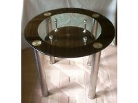 Round Glass Table - 74cm(h, ) 100cm(w)