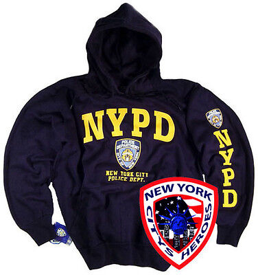 Nypd Shirt Hoodie Sweatshirt Officially Licensed By York City Navy Blue