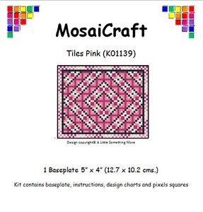 MosaiCraft-Pixel-Artigianato-Mosaico-Arte-Kit-039-Piastrine-Rosa-039-Pixelhobby