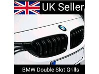 BMW f30 f31 f35 Gloss Black Grills Grilles M Style Double Twin Slot