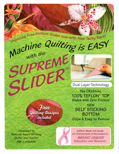Free-Motion SUPREME SLIDER for Machine Quilting