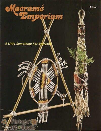 Macrame Emporium Vintage Pattern Book Basket Hammock Decor Plant Hangers NEW