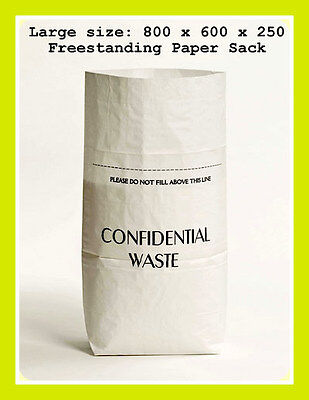 Pack Of 10 Confidential Documents Strong Paper Shredding Sacks / Office Shredder