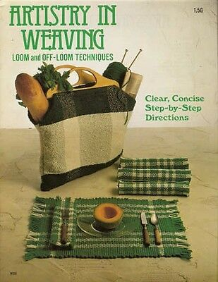 Artistry in Weaving Loom & Off Loom Techniques Vintage Pattern Book Booklet NEW
