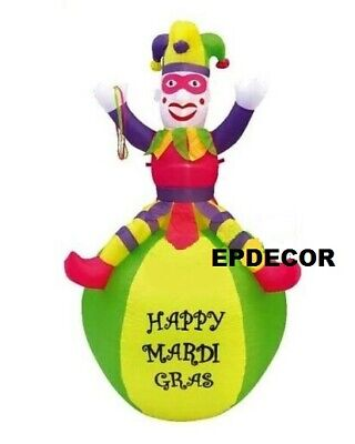 Mardi Gras Ball Decorations (7ft Airblown Inflatable Mardi Gras Ball Jester Yard)