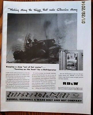 Jeep in Rugged Terrain  WWII Ad