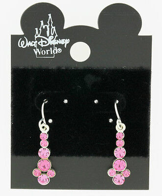 AUTHENTIC DISNEY   MICKEY MOUSE HEAD PIERCED EARRINGS  pink