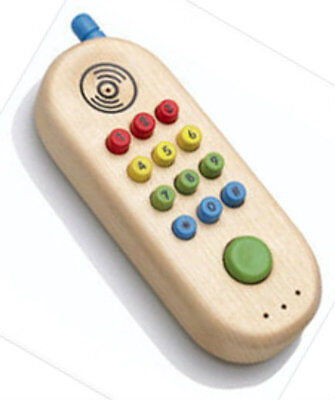 Wooden Toy Rings - The Original Toy Company Wood Wooden My First Cell Phone Really Rings 425504