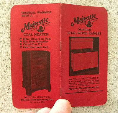 1947-48 Majestic Coal-Wood-Gas Ranges, Stoves, Heaters Advertising Booklet - Gas Wood Stoves