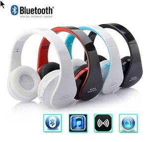 Wireless Bluetooth Foldable Headset Stereo Headphone Earphone fo
