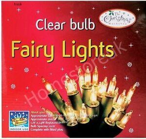 CLEAR / MULTI COLOUR XMAS FAIRY LIGHTS BULBS CHRISTMAS DECORATION TREE PARTY