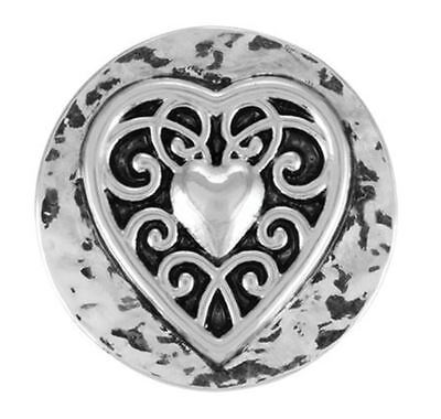 "Ginger Snaps Jewelry ""Vintage Heart"" SN01-01 Buy 4 Get One $6.95 Snap Free"