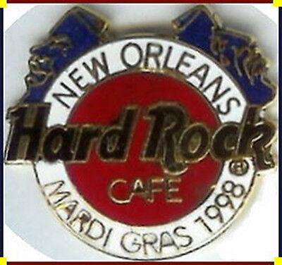 Hard Rock Cafe New Orleans 1998 Mardi Gras 2 Masken Pin