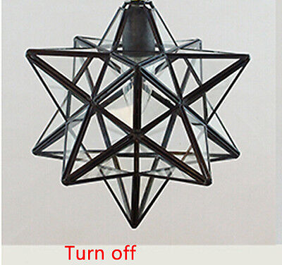 3 TYPE Lighting Flush Mount Iron Wall Lamp Glass Moravian Star CeilingLamp